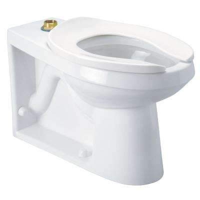 1-Piece 1.1 GPF Single Flush Elongated Toilet in White, Seat Not Included