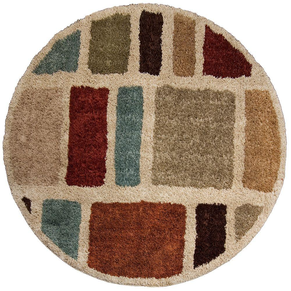 Orian Rugs Moodie Blues Multi 7 Ft. 10 In. Round Area Rug 238594   The Home  Depot