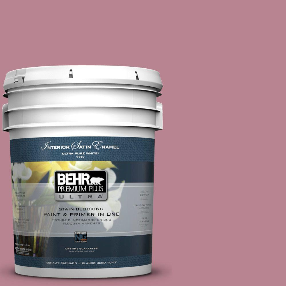 5-gal. #BIC-19 Berry Blush Satin Enamel Interior Paint
