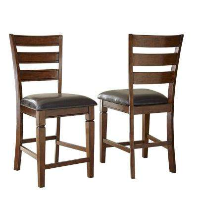 Karl 42 in. Brown Counter Chair (Set of 2)