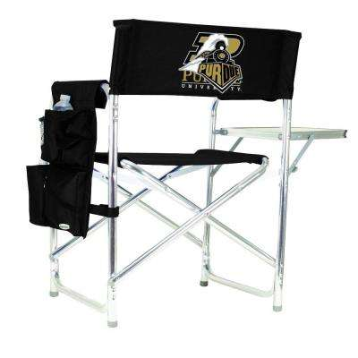 Purdue University Black Sports Chair with Embroidered Logo