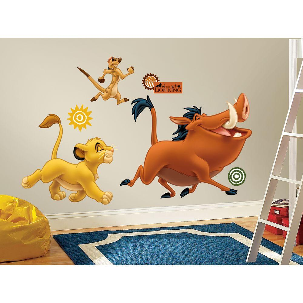 RoomMates 19 in. x 25 in. The Lion King Peel and Stick Giant Wall Decal