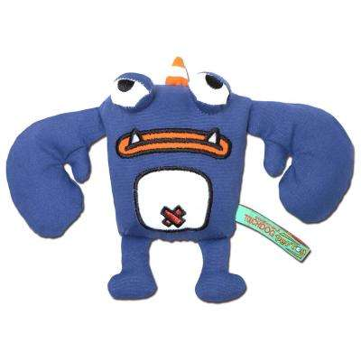 Blue Cartoon Crabby Tooth Monster Plush Dog Toy