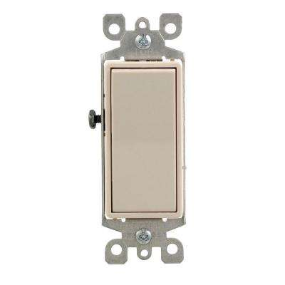 Decora 15 Amp 4-Way Rocker Switch, Light Almond