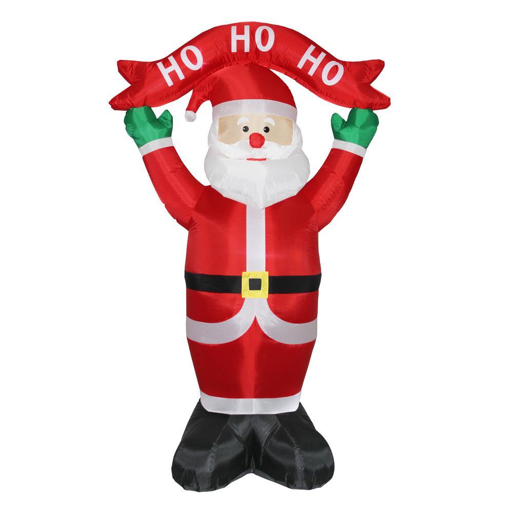 8 ft. Inflatable Ho, Ho, Ho Santa