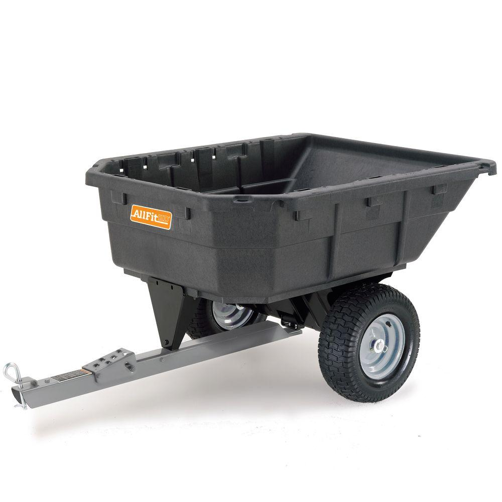 AllFitHD 12.5 Cu. Ft. 1000 Lb. Capacity Poly Swivel Dump