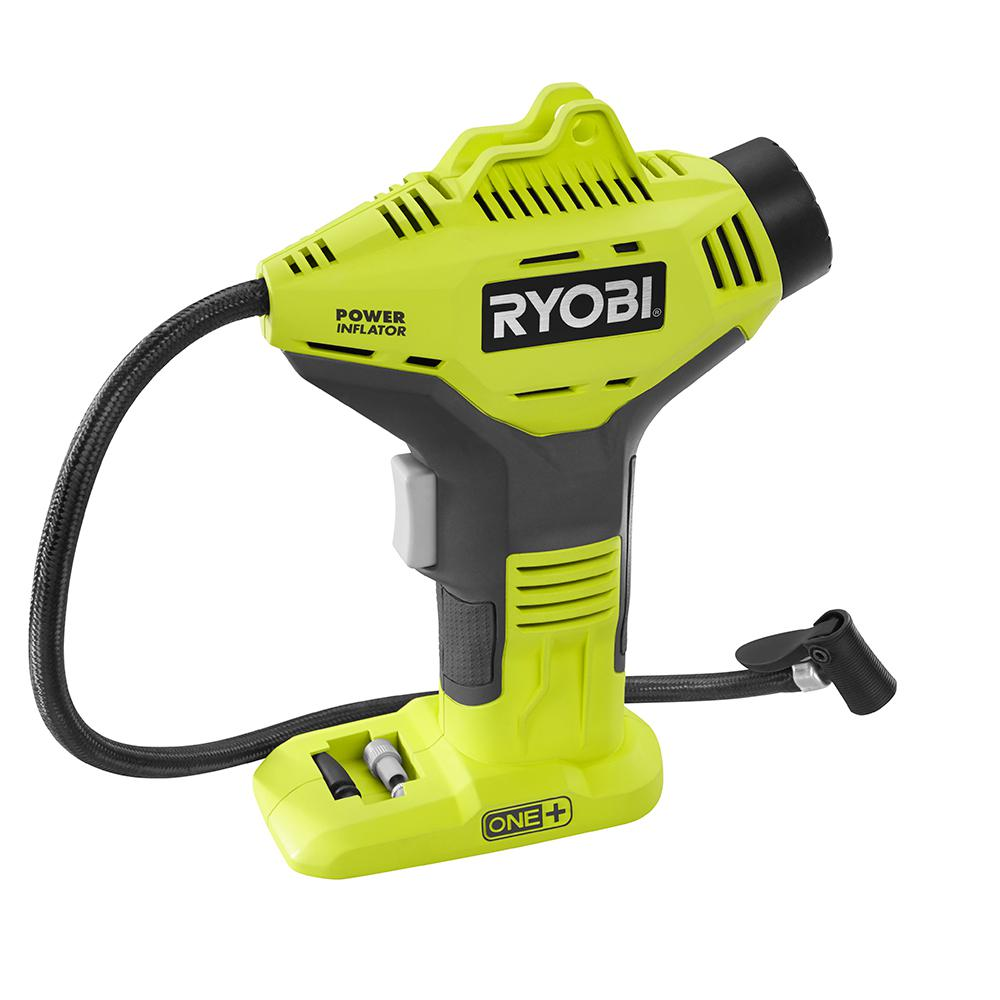 Battery Not Included, Power Tool Only Ryobi P737 18-Volt ONE Portable Cordless Power Inflator for Tires