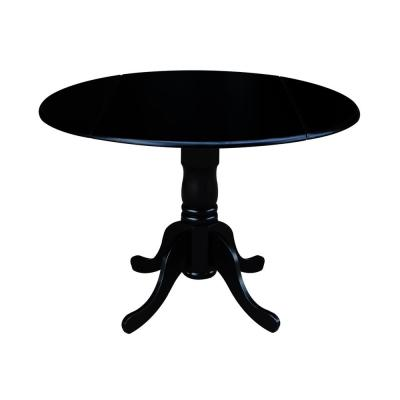 Black Drop-Leaf Dining Table