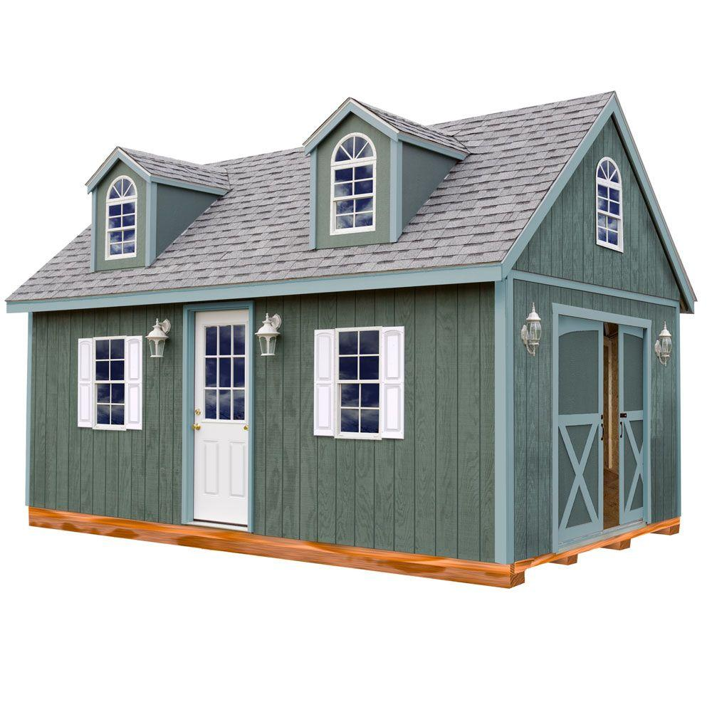 Arlington 12 ft. x 24 ft. Wood Storage Shed Kit with Floo...