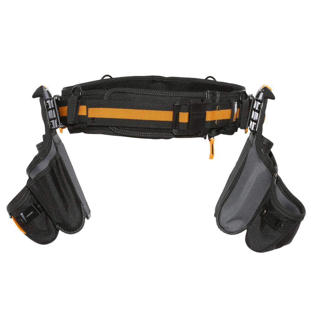 TOUGHBUILT 20.5 in. Tradesman Tool Belt Set, Black (3-Piece)