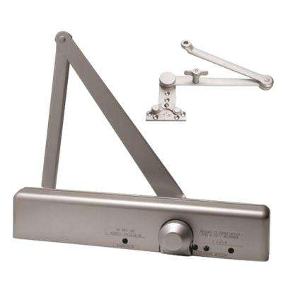 Slimline Heavy Duty ADA Commercial Door Closer with Hold Open Cush-N-Stop Arm in Aluminum - Sizes 1-6