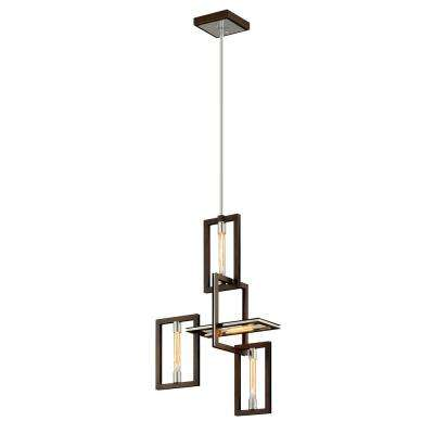 Enigma 4-Light Bronze 23.75 in. W Pendant
