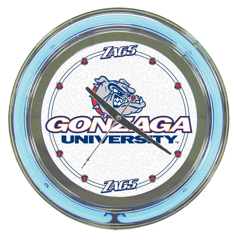 Trademark Global 14 in. Gonzaga University Neon Wall Clock