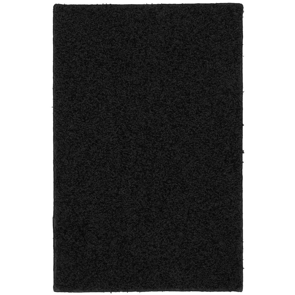 Garland Rug Southpointe Shag Black 3 Ft X 5 Ft Area Rug Sp 00 0a 3660 15 The Home Depot