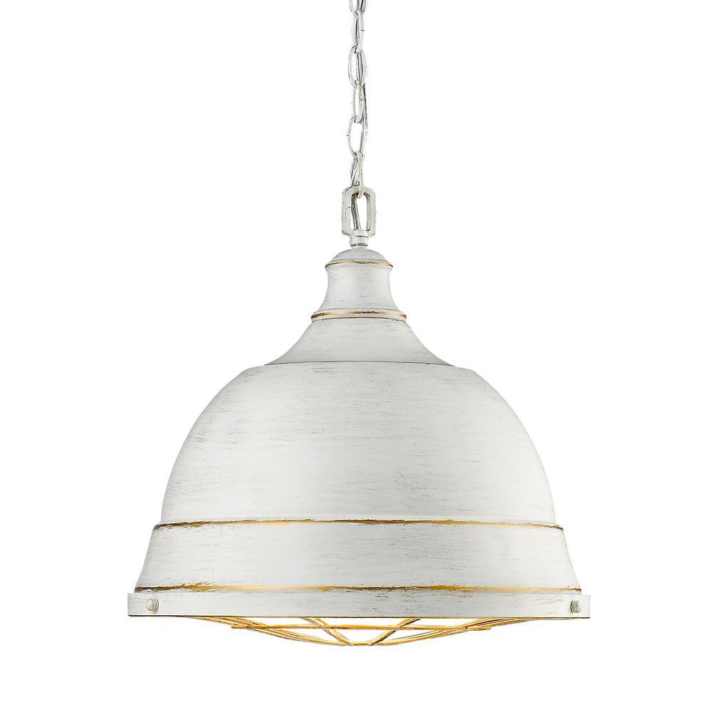 Golden Lighting Bartlett 2 Light French White Pendant