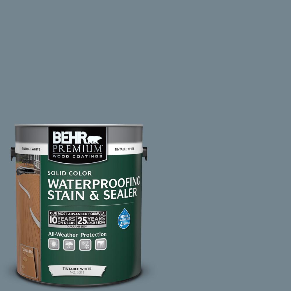 1 gal. #N480-5 Adirondack Blue Solid Waterproofing Stain and Sealer