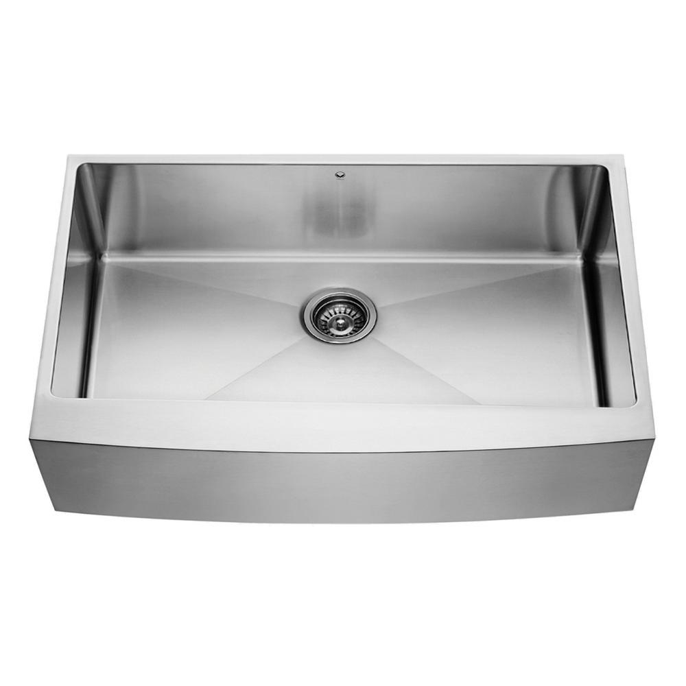 Vigo All In One Farmhouse A Front 36 Single Bowl Kitchen Sink Stainless Steel Vg15259 The Home Depot