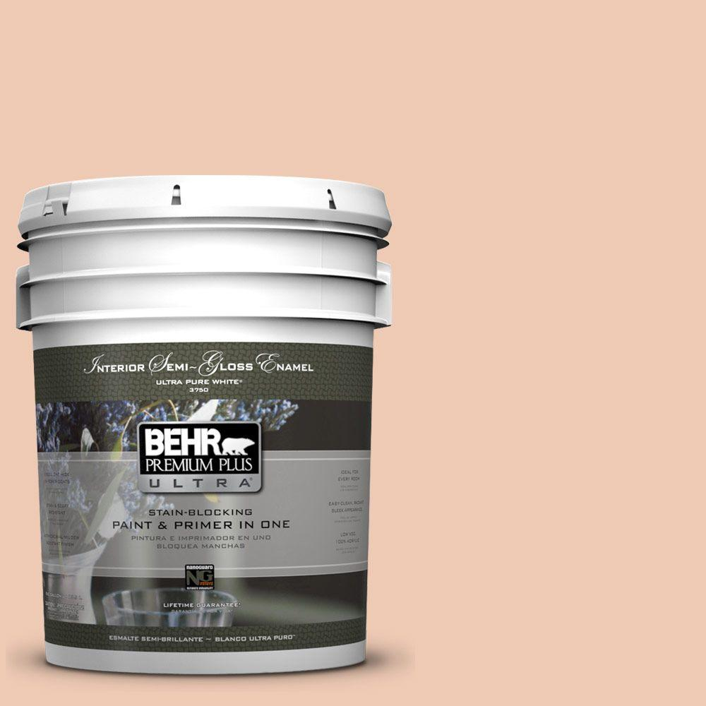 5-gal. #240E-2 Peach Bud Semi-Gloss Enamel Interior Paint