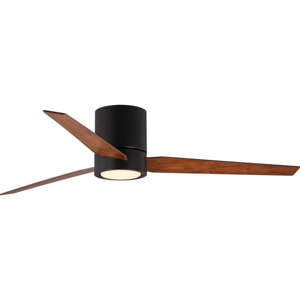 Progress Lighting Braden 56 in. Integrated LED Architectural Bronze Ceiling Fan with Light Kit