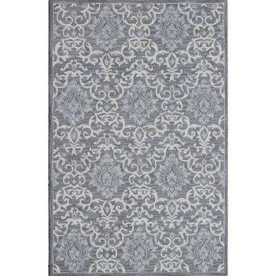Filigree Grey 2 ft. x 4 ft. Indoor Area Rug