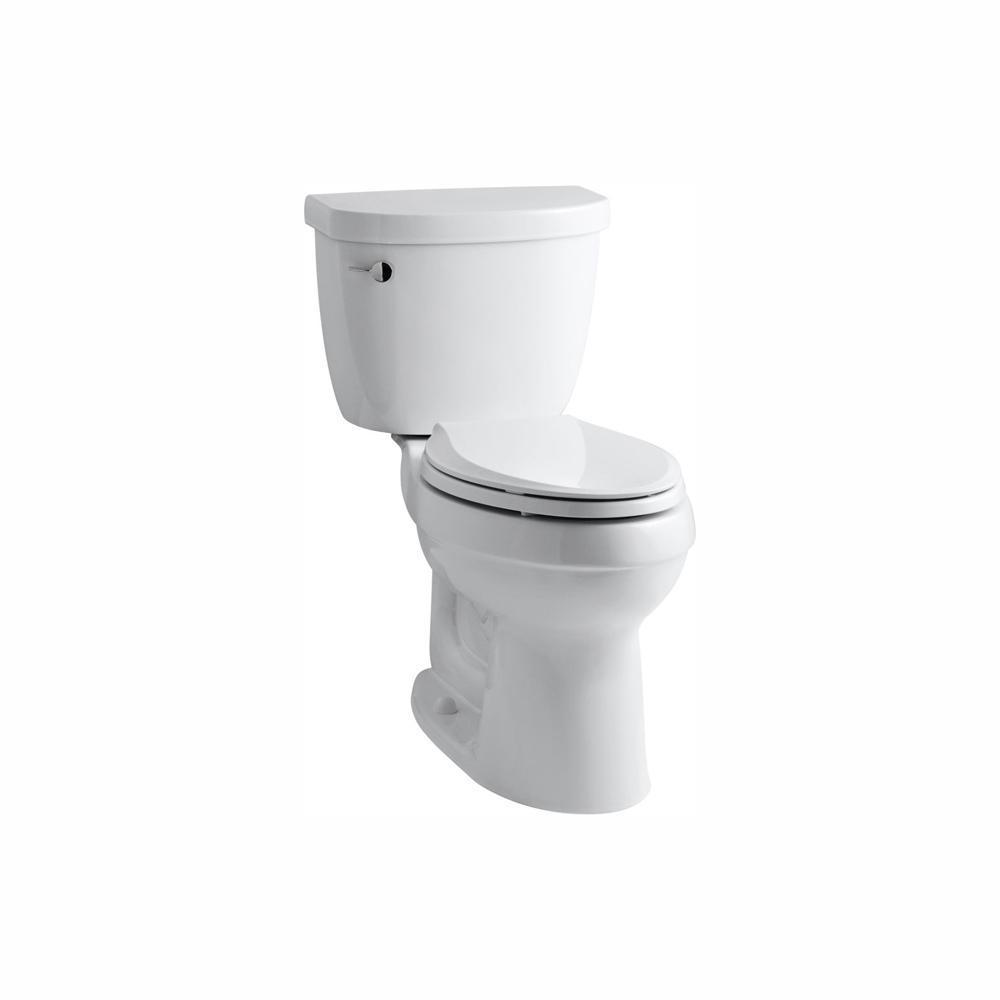 Terrific Kohler Cimarron Comfort Height The Complete Solution 2 Piece 1 28 Gpf Single Flush Elongated Toilet In White Seat Included Creativecarmelina Interior Chair Design Creativecarmelinacom