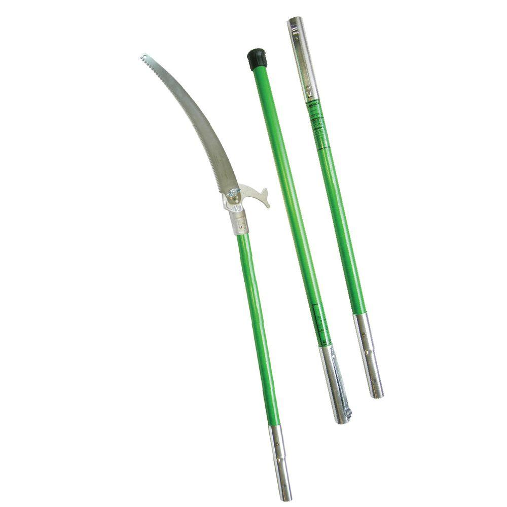 Fiberglass Electrical Poles : Jameson in tri cut pruning saw with fiberglass poles