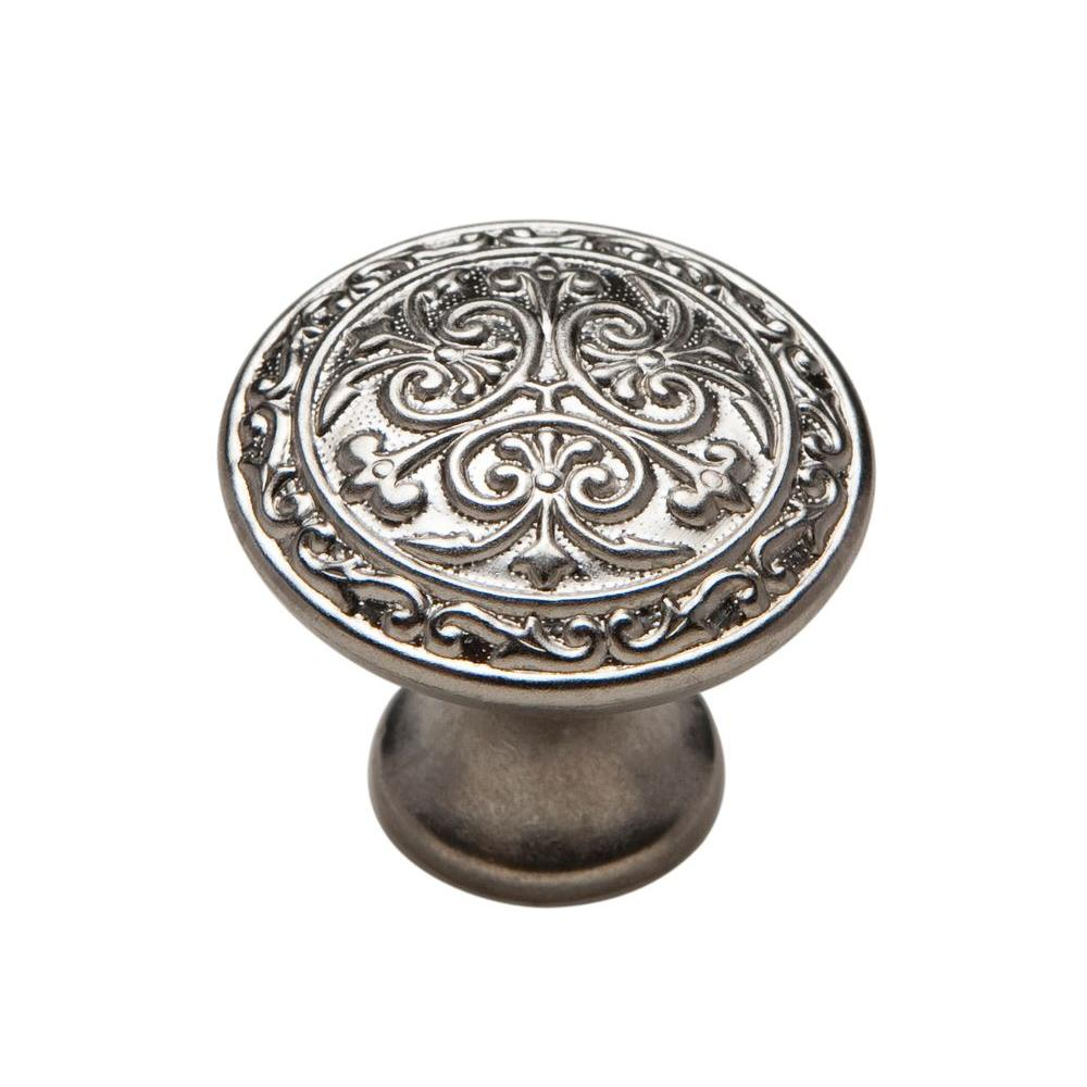Knobware 1-1/8 in. Muted Nickel Cabinet Knob