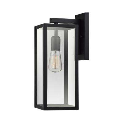 Hurley 1-Light Matte Black Outdoor Wall Mount Sconce