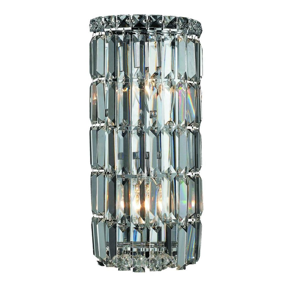 Aurora Lighting Cassiopeia 2-Light Chrome Incandescent Bathroom Wall Sconce-CLI-WDK282852 - The ...