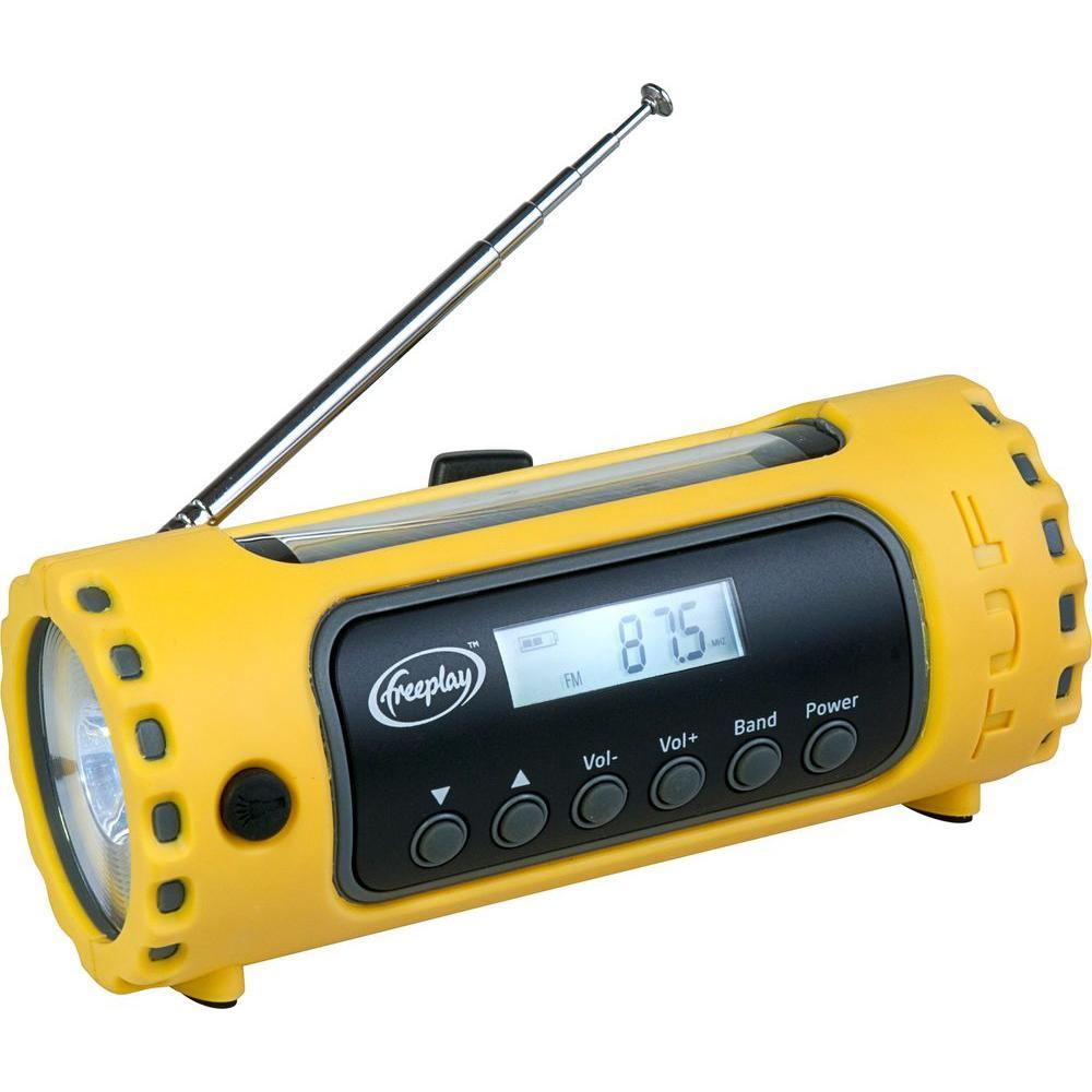 Freeplay TufSolar and Wind-Up AM/FM/WX Radio with LED Flashlight