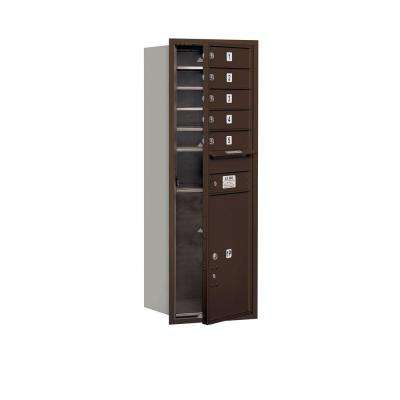 48 in. H x 16-3/4 in. W Bronze Front Loading 4C Horizontal Mailbox with 5 MB1 Doors/1 PL6