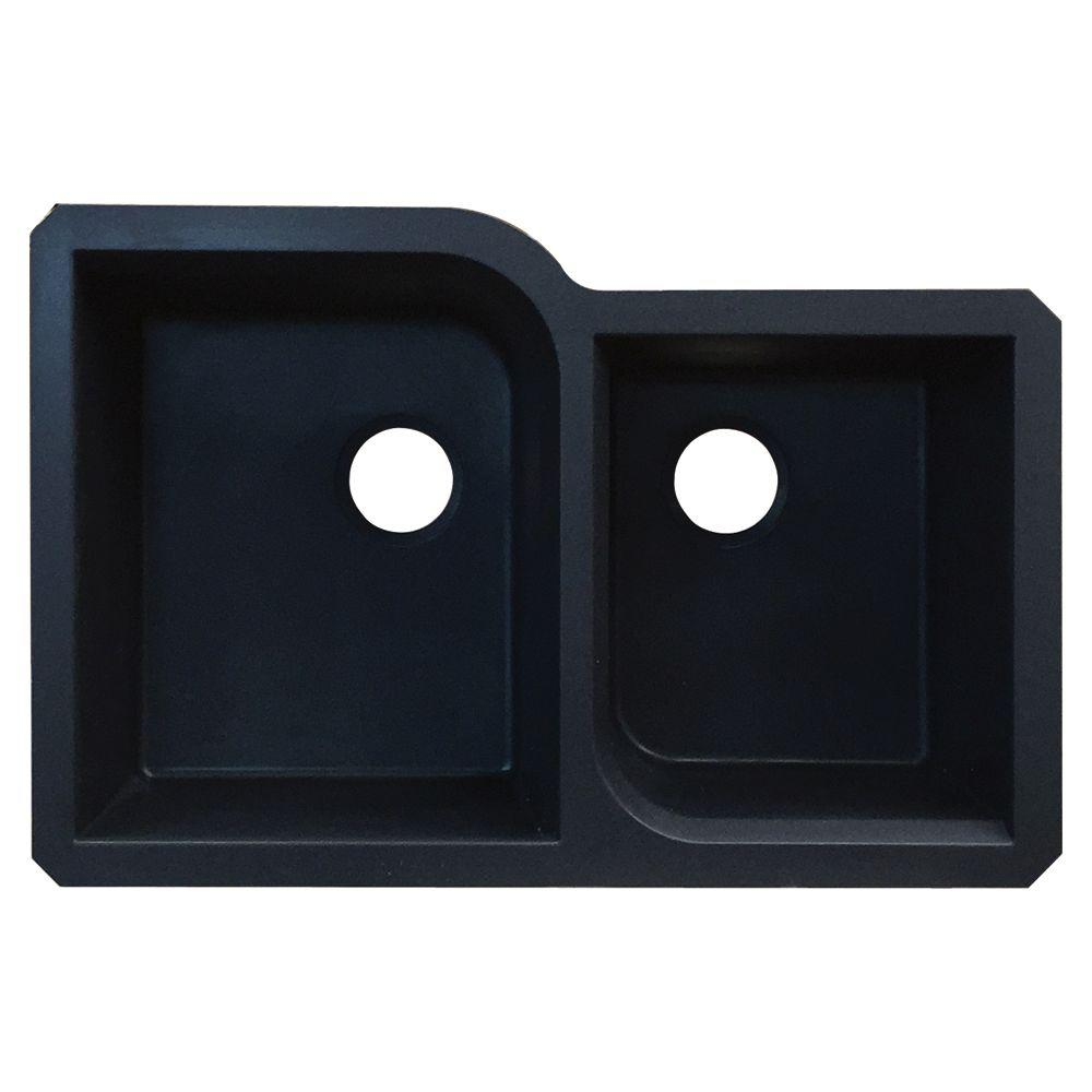Kitchen Sink Offset From Window: Transolid Radius Undermount Granite 32 In. 1-3/4 Offset