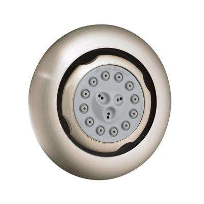 Extender 3-Spray Round Body Sprayer in Brushed Nickel