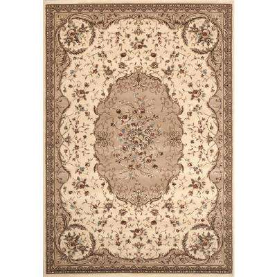 Manor House Cream Savonnerie 5 ft. 3 in. x 7 ft. 3 in. Area Rug