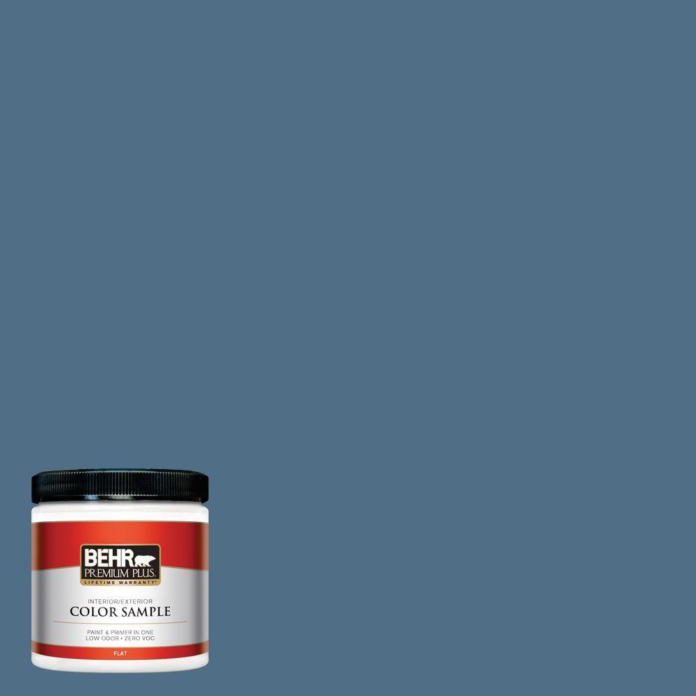 BEHR Premium Plus 8 oz. #S500-6 Shipyard Interior/Exterior Paint Sample