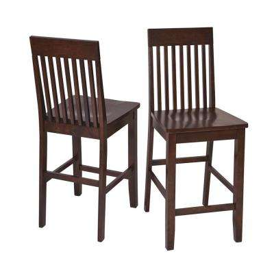 OSPdesigns Westbrook 24 inch Dark Brown Wood Bar Stool (Set of 2) by Wooden Bar Stools