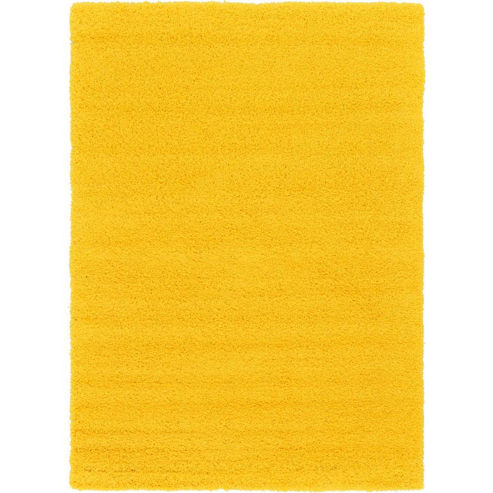 Solid Shag Tuscan Sun Yellow 7 ft. x 10 ft. Area Rug