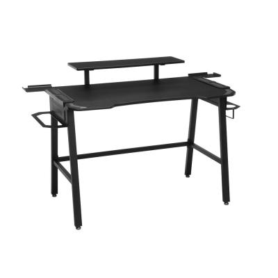 53 in. Rectangular Gray Computer Desk with Shelf