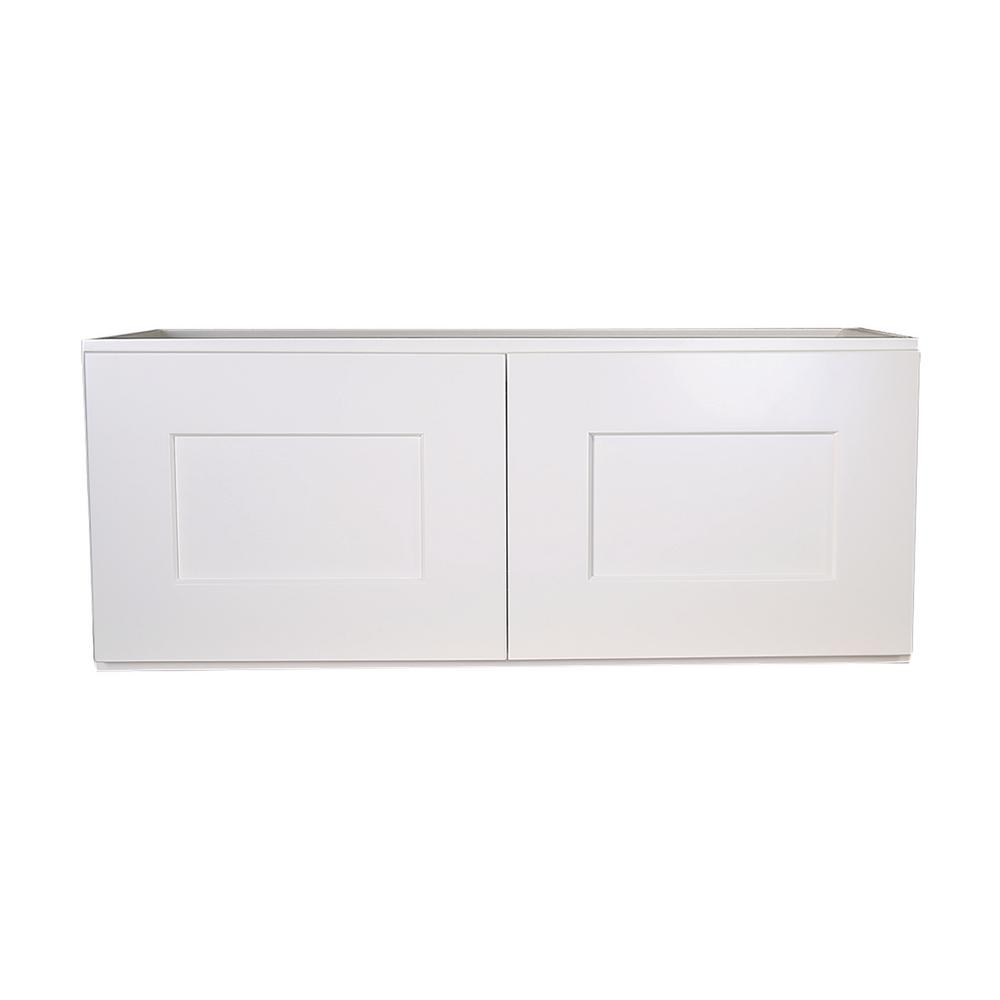 Brookings Fully Assembled 30x12x12 in. Kitchen Wall Cabinet in White