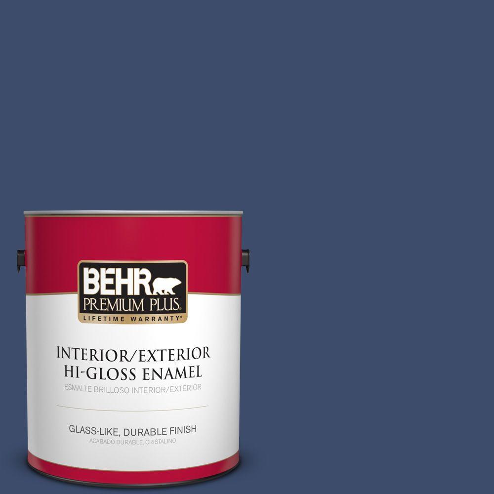 1 gal. #HDC-SM16-08 Blackberry Cobbler Hi-Gloss Enamel Interior/Exterior Paint