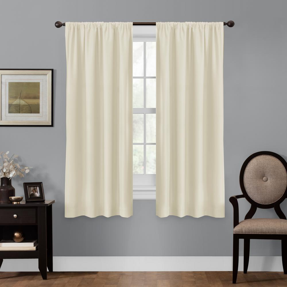 Maytex Julius 50 in. x 63 in. 100% Blackout Smart Curtain Window Panel
