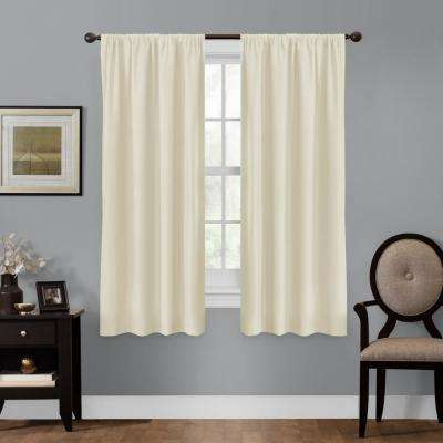 Julius 50 in. x 63 in. 100% Blackout Smart Curtain Window Panel