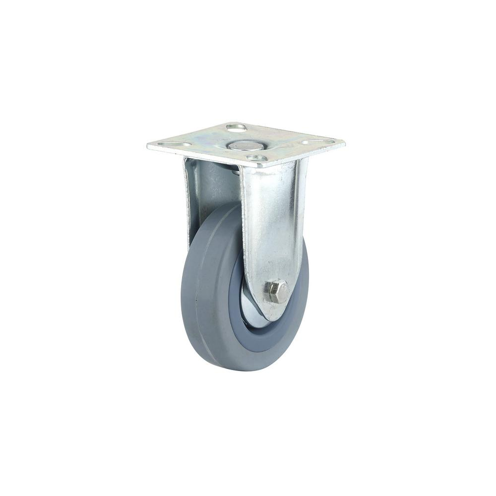2-15/16 in. Gray Fixed plate Caster, 132.3 lb. Load Rating