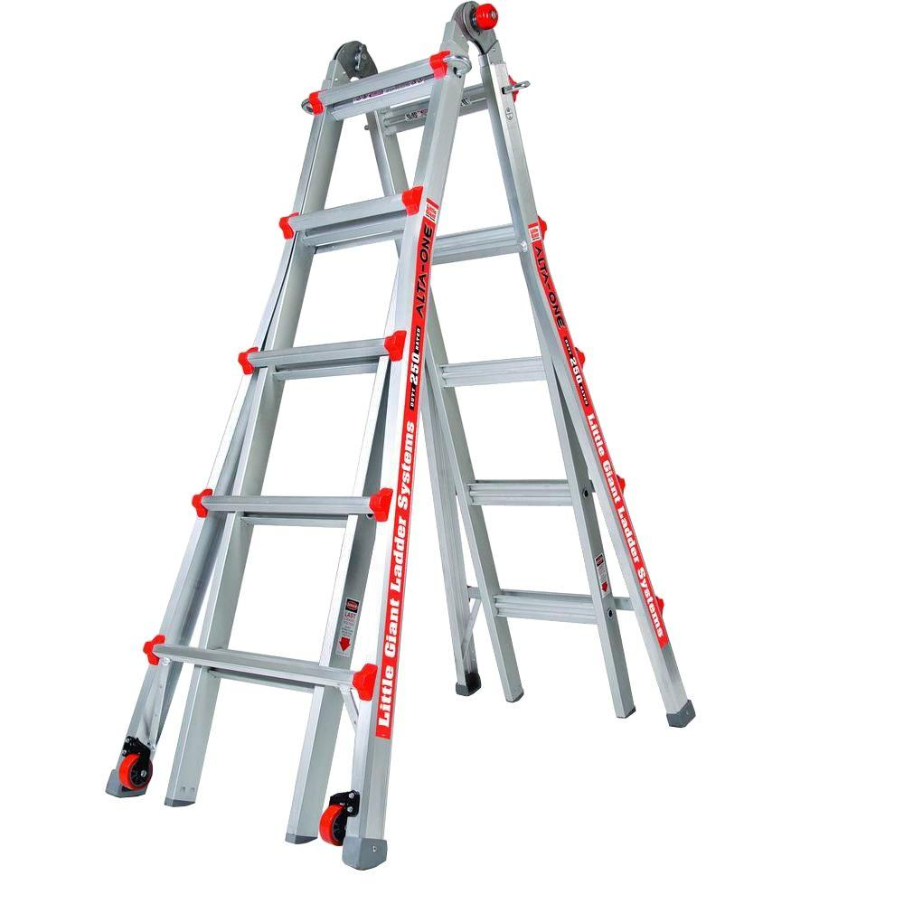 Little Giant Ladder Systems Alta-One 22 ft. Aluminum Multi-Position Ladder with 250 lb. Load Capacity Type I Duty Rating