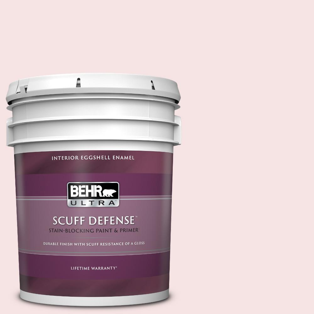 Behr Ultra 5 Gal 100c 1 Cupid Arrow Extra Durable Eggshell Enamel Interior Paint And Primer In One 275005 The Home Depot