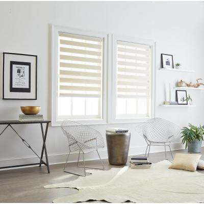 Cut-to-Size Linen Cordless Light Filtering Roller Shades 27 in. W x 64 in. L