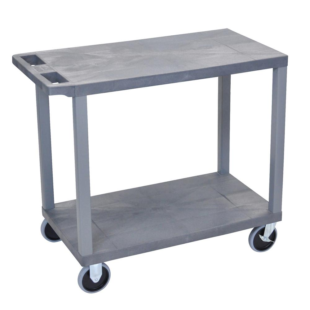 EC 32 in. 2-Shelf Utility Cart with 5 in. Casters in