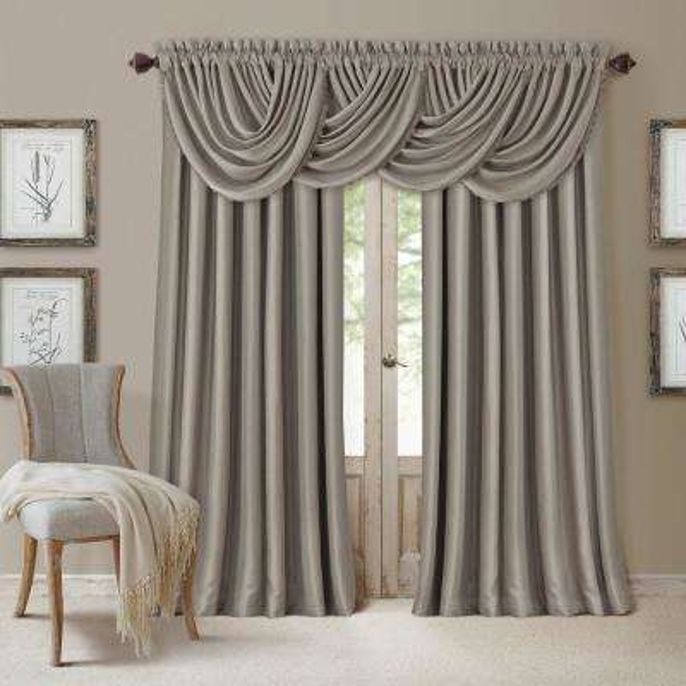 Blackout All Seasons 52 in. W x 108 in. L, Single Panel Blackout Rod Pocket Window Curtain Drape Regal Solid, Silver