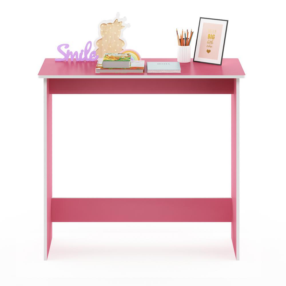 Furinno Simplistic Light Pink White Study Table 14035pi
