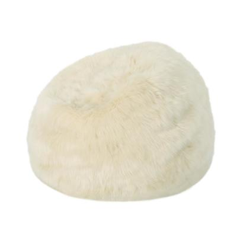 3 ft. Taupe Faux Fur Bean Bag